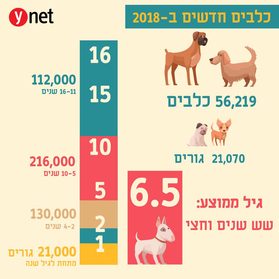 כלבים רשומים חדשים ב-2018 (איור: shutterstock)