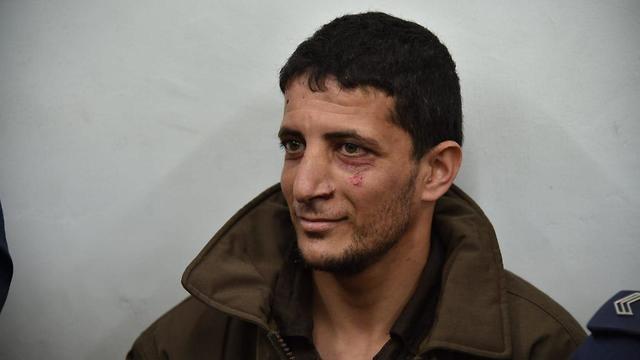 המחבל אשר חשוד ברצח של אורי אנסבכר בהארכת מעצר בבית המשפט ירושלים (צילום: יואב דודקביץ )