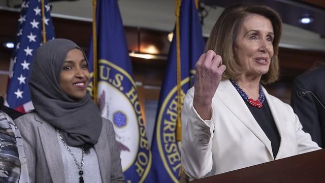 Speaker of the House Nancy Pelosi and Ilhan Omar (D-MN) (Photo: AP)