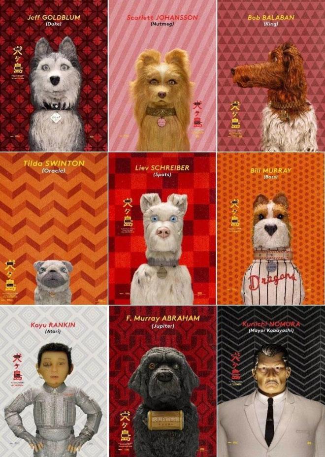 טקסטורות יפות שעליהן מופיעות הדמויות. אי הכלבים