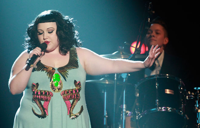 לדיטו אין בעיה לקרוא לעצמה שמנה, ויש לה עוד פחות בעיה לדבר על ממדי הגוף שלה  (צילום: Sean Gallup/GettyimagesIL)