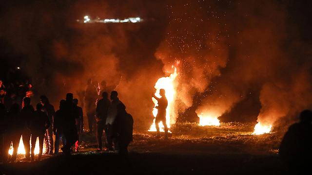 Recent riots on the Gaza Strip border  (Photo: AFP)