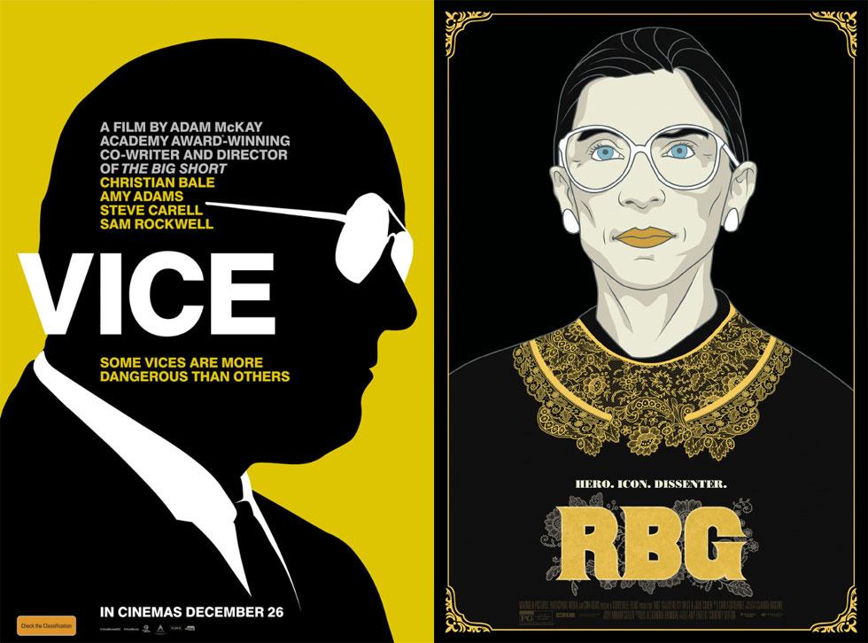 RBG וסגן הנשיא (Vice) הגישו לצופים שניים מהפוסטרים היפים ביותר של השנה