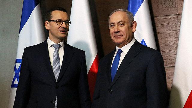 Polish Prime Minister Mateusz Morawiecki and Prime Minister Benjamin Netanyahu (Photo: Reuters)
