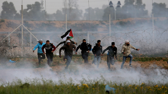 Palestinian protests on the Gaza border with Israel (Photo: Reuters)