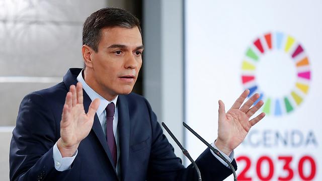 ראש ממשלת ספרד פדרו סנצ'ס (צילום: EPA)