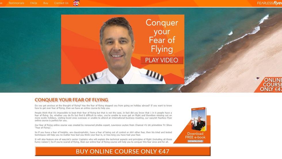 פחד מטיסות? קורס לתהגברות מטעם איזיג'ט (מתוך אתר החברה)