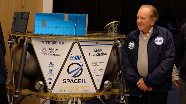 Morris Kahn at SpaceIL (Photo: Shaul Golan)