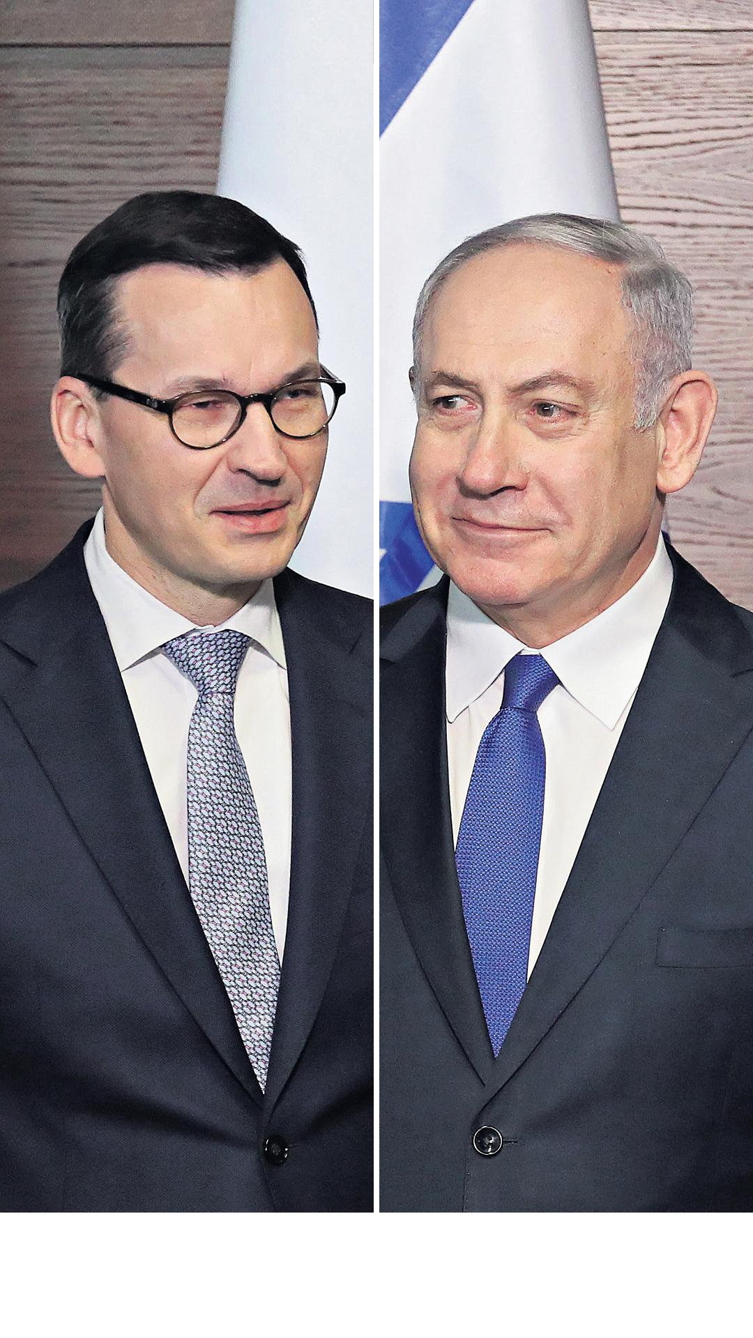 Mateusz Morawiecki and Benjamin Netanyahu