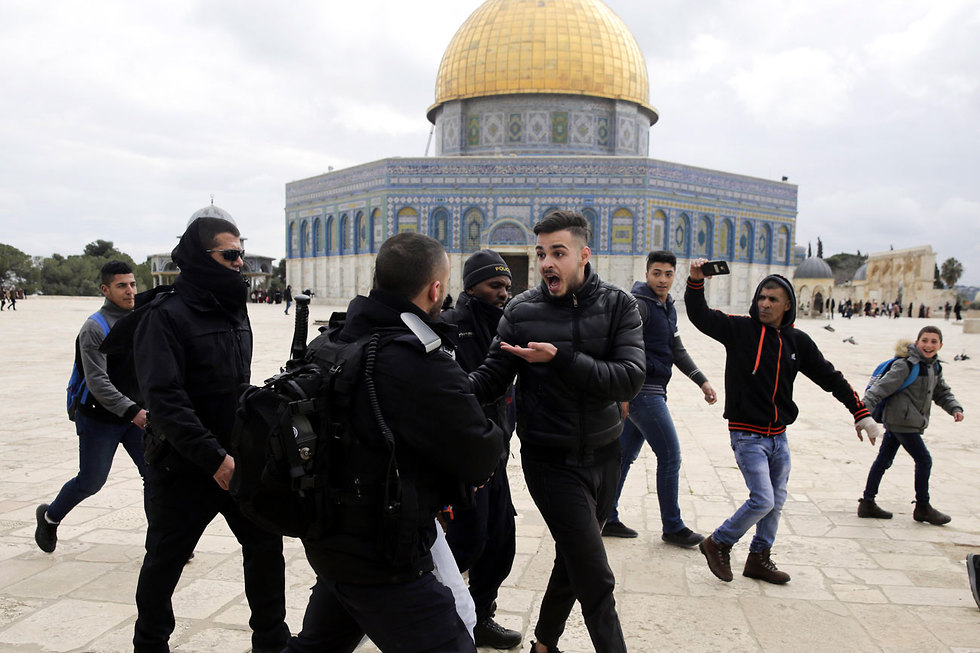Tensions at the Temple Mount (Photo: AP)