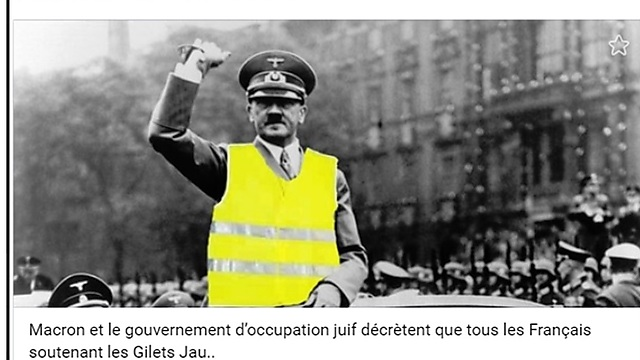 Hitler with a photoshopped yellow vest