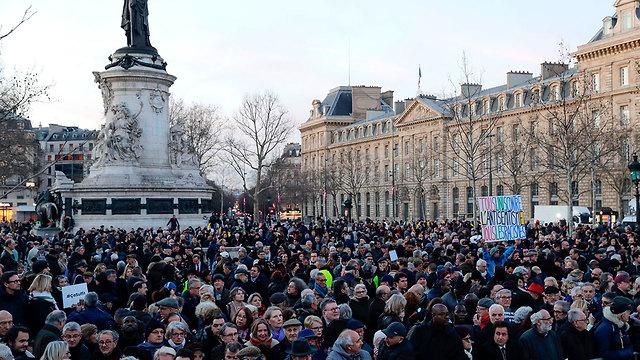 Protest against anti-Semitism in Paris (Photo: AFP) (Photo: AFP)