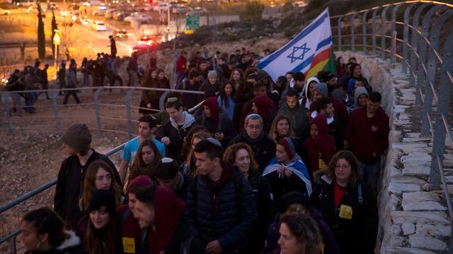 צעדה לזכרה של אורי אנסבכר (צילום: עמית שאבי)