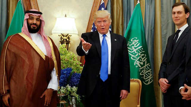 Saudi Crown Prince Mohammed bin Salman, President Trump and Jared Kushner (Photo: Reuters)
