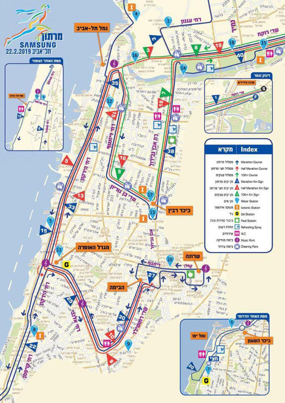 מפה מרתון תל אביב  ()
