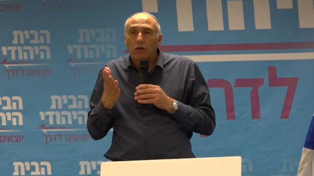 הצבעה על איחוד מפלגת הבית היהודי עם מפלגת עוצמה יהודית (צילום: ליהי קרופניק)