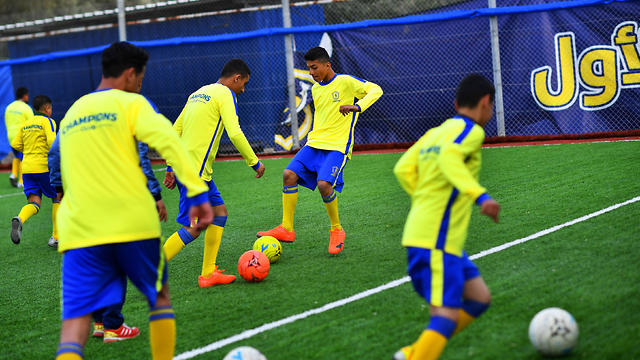 Soccer in Gaza, cancer patients