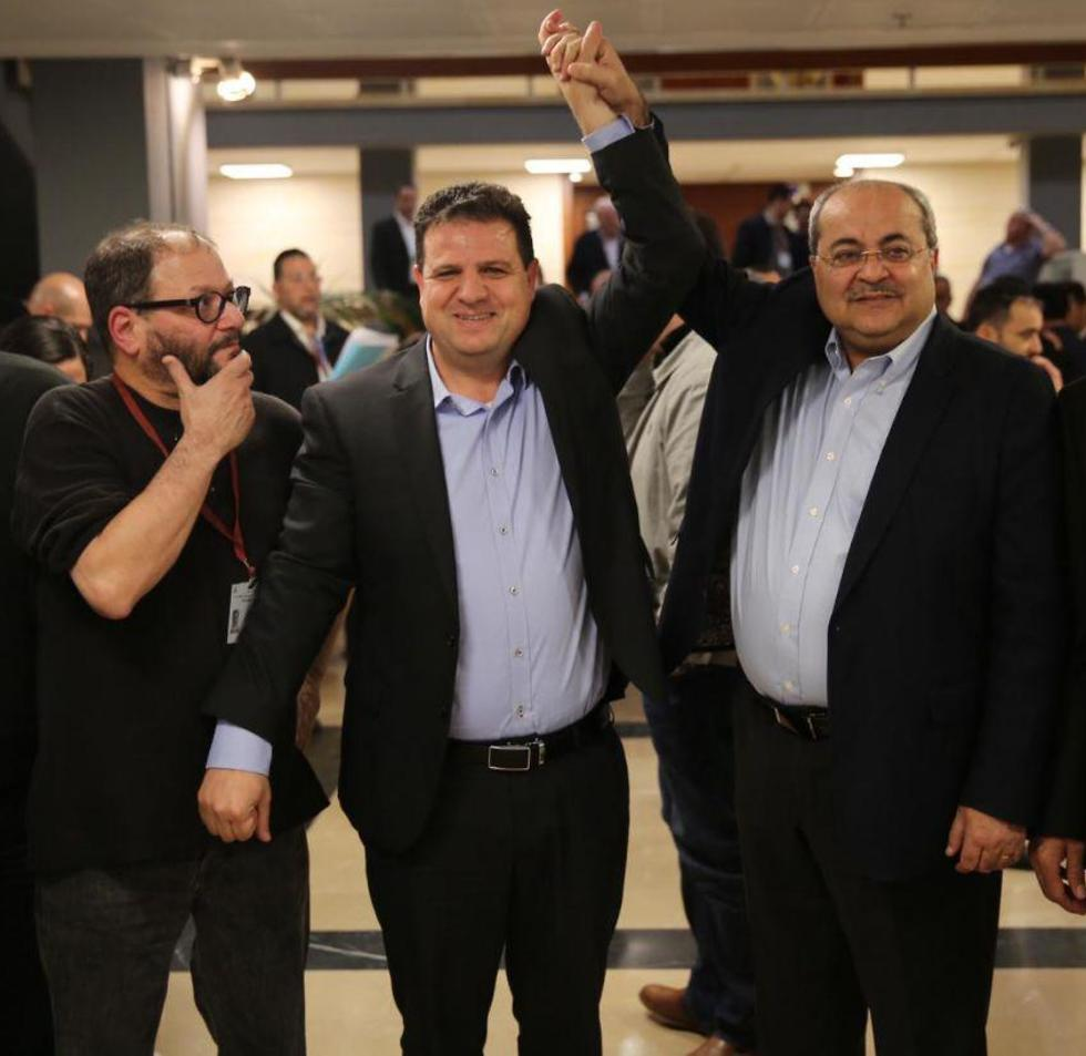 Tibi with Ayman Odeh and Ofer Ksif
