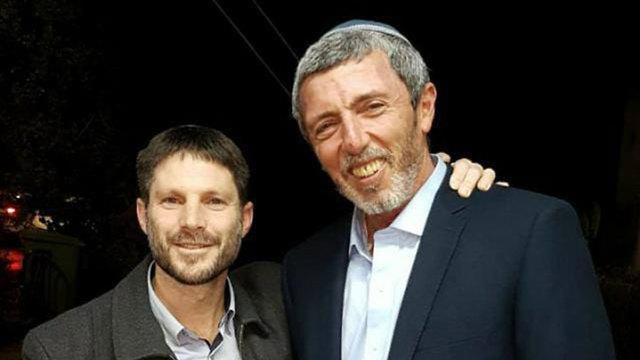 רפי פרץ ובצלאל סמוטריץ' בתמונה מתוך הטוויטר של פרץ ()