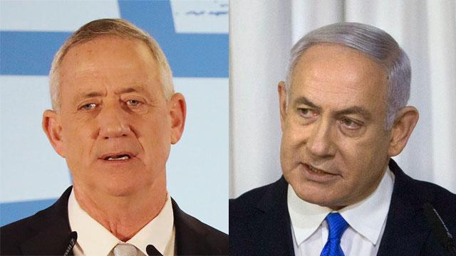 Benny Gantz and Benjamin Netanyahu (Photo: AP, EPA)