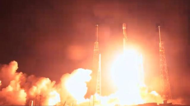 "Старт ракеты-носителя космического модуля ""Берешит"". Фото: SpaceX"