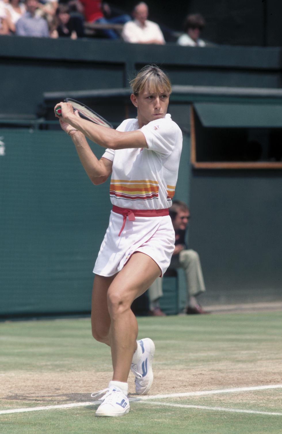 מרטינה נברטילובה ב-1982 (צילום: getty images)