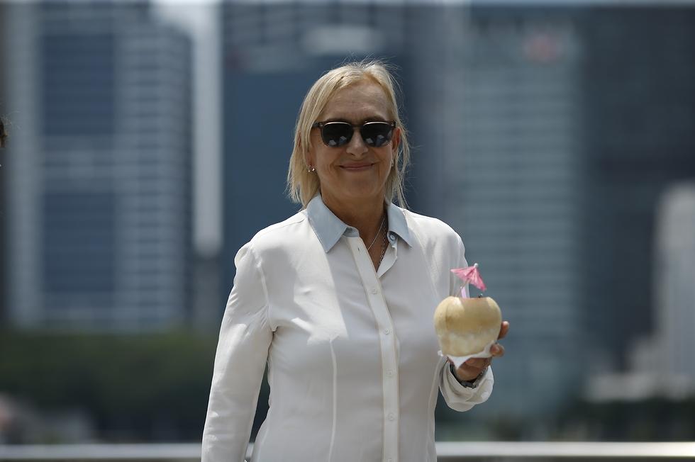 מרטינה נברטילובה בסינגפור (צילום: getty images)