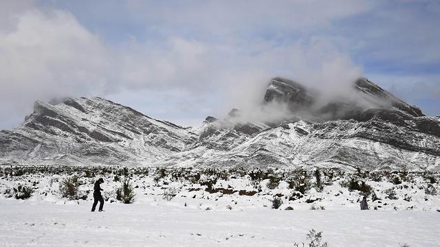 שלג בלאס וגאס (צילום: gettyimages)