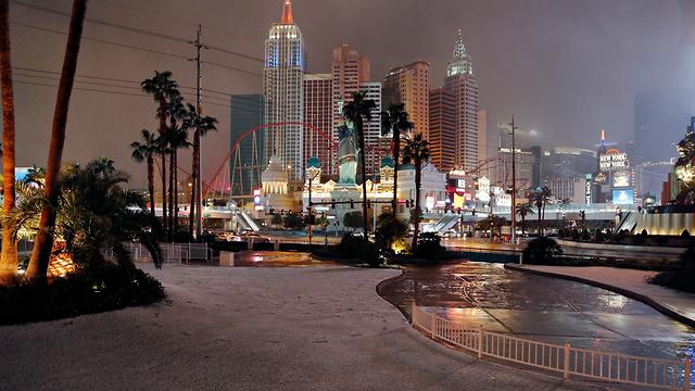 שלג בלאס וגאס (צילום: AP)