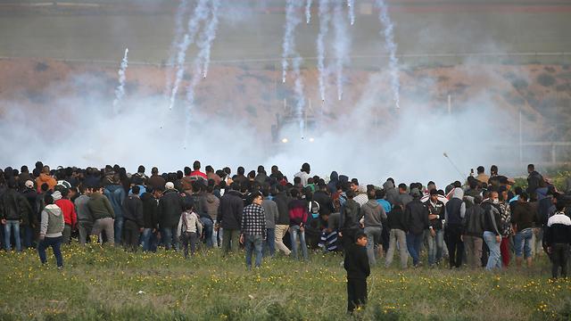 Palestinian protests along the Israel-Gaza border  (Photo: Reuters)