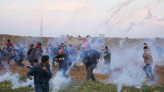 Riots along the Israel-Gaza border (Photo: Reuters)
