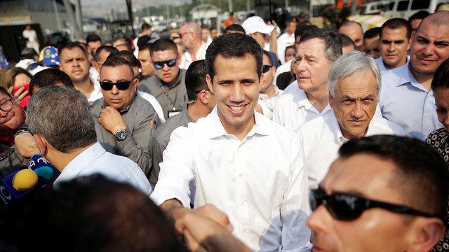 ונצואלה חואן גוואידו ב קולומביה (צילום: רויטרס)