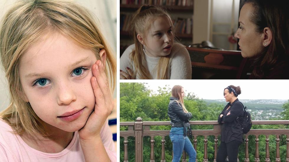 """Либи Ливне в детстве (слева) и в поисках своих корней в России. Фото: """"Решет"""" 13"""