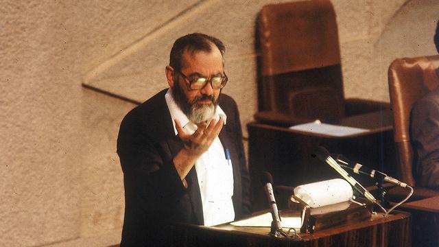 Meir Kahane at the Knesset in 1986 (Photo: David Rubinger)
