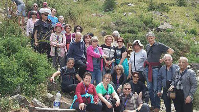 קבוצת המטיילים הישראלים בצ'ילה (מתוך עמוד הפייסבוק של זהר אשכר)