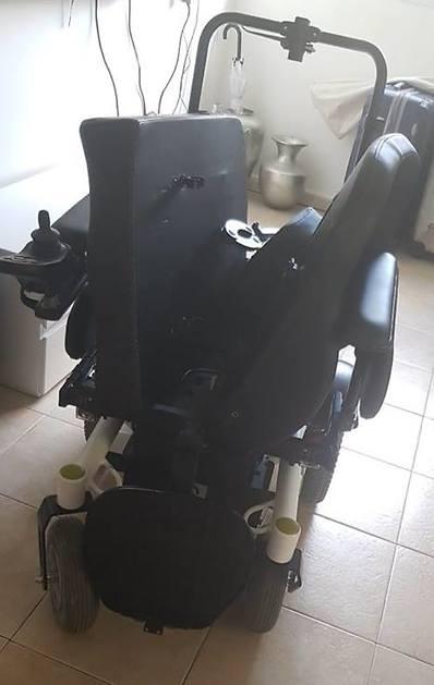 הנזקים שנגרמו לכסא הגלגלים של בוארון