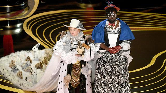 מליסה מקארתי ובריאן טייר הנרי בטקס האוסקר (צילום: gettyimages)