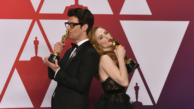 Guy Nattiv and Jaime Ray Newman win the Oscar (Photo: AP)