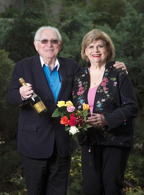 עם בעלה רפי. ביחד מהתיכון (צילום: יובל חן)