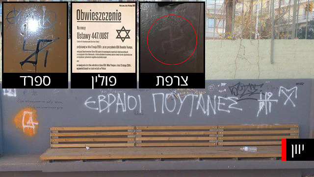 אנטישמיות באתונה מדריד צרפת וורשה ()