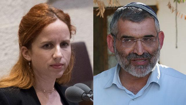 Labor MK Stav Shaffir; Otzma Yehudit member Michael Ben-Ari (Photo: Yoav Dudkevitch, Shaul Golan)