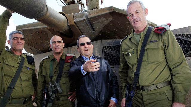 Gantz and Ehud Barak a decade on (Photo: Tzafrir Aviyov)