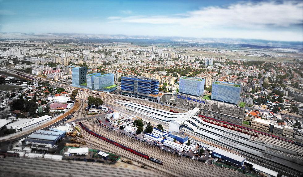 קריית הרכבת ומתחם תחבורה משולב (צילום: פלג אדריכלים)
