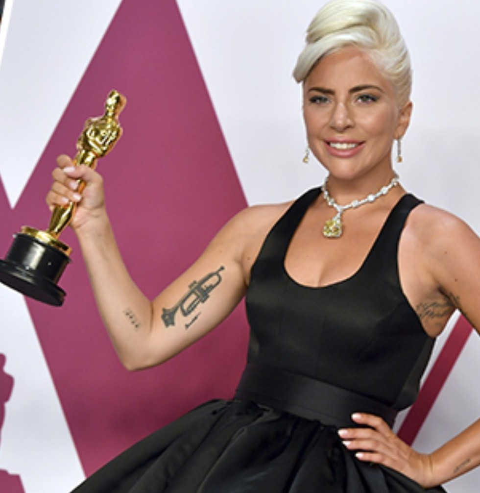 Oscar winner Lady Gaga also makes TIME 100 (Photo: Jordan Strauss, Kevork Djansezian/GettyimgesIL)