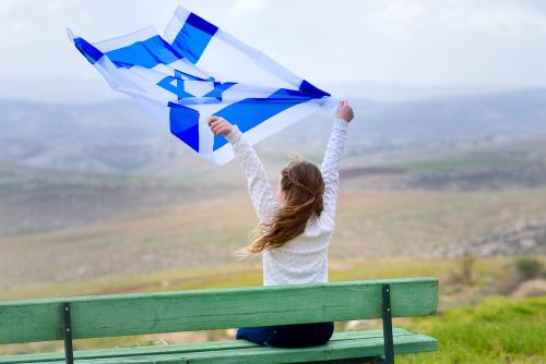 Израильский флаг. Фото: shutterstock