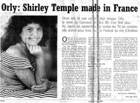 """שירלי סולומון בילדותה. כונתה """"שירלי טמפל תוצרת צרפת"""" (צילום: אלבום פרטי)"""