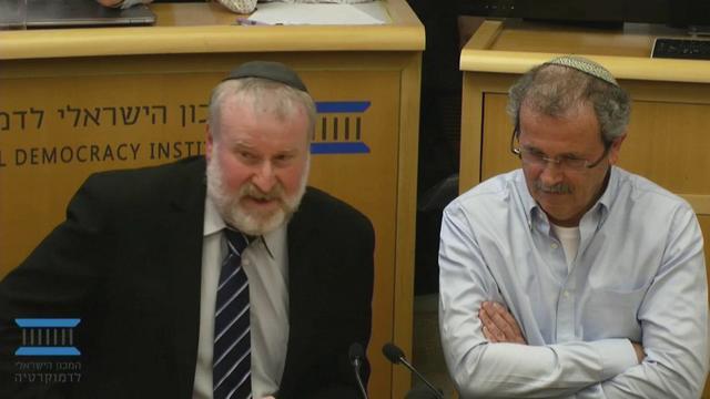 אביחי מנדלבליט באירוע הוקרה לפרופ' ידידיה שטרן (צילום: המכון הישראלי לדמוקרטיה)