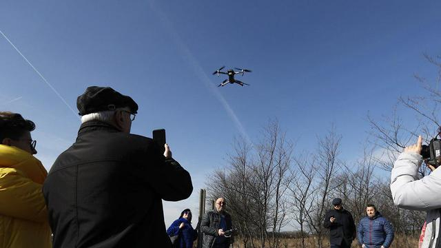 Drones used to map the Jewish cemeteries (Photo: AP)