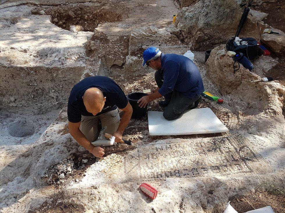 Раскопки в районе Цур-Натана. Фото: Ралеб Абу-Диаб, Управление древностей