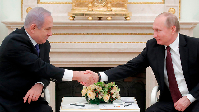 PM Netanyahu and Russia's Putin  (Photo: AFP)